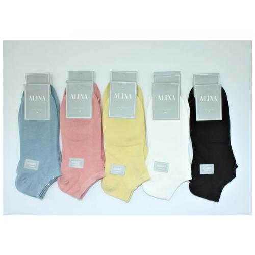 Носки женские Alina СС 2058 10пар,синие,розовые,желтые, белые ,черные, размер 37-41