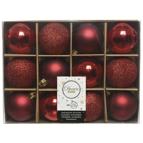 Фото - Набор пластиковых шаров New Year MIX красный/бордовый, 60 мм, упаковка 12 шт., Kaemingk 023573 набор пластиковых шаров new year mix красный бордовый 60 мм упаковка 12 шт kaemingk 023573