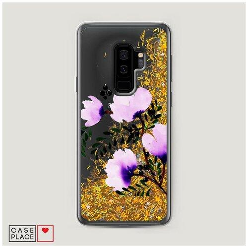 Фото - Чехол Жидкий с блестками Samsung Galaxy S9 Plus Цветочная фантазия 2 чехол жидкий с блестками samsung galaxy s20 plus цветочная фантазия 1