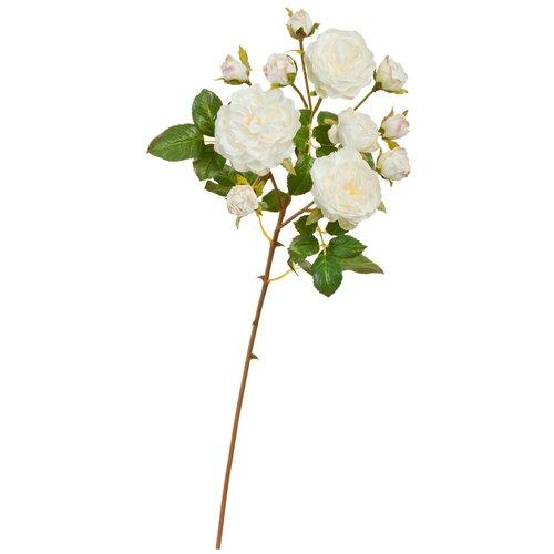 Искусственный цветок Роза Дэвид Остин ветвь белая с розовой каймой 51 см pablo de gerard darel белая блузка с рельефной отделкой