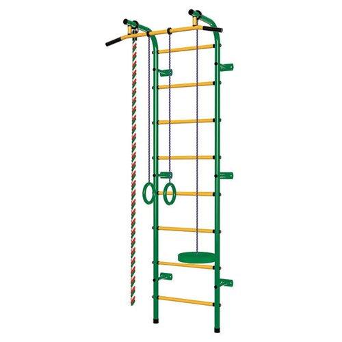 Шведская стенка Пионер С1РМ, зеленый/желтый