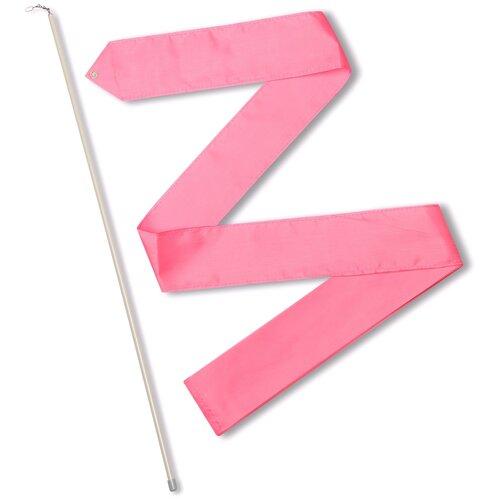 Фото - Палочка с лентой для художественной гимнастики Indigo СЕ6 розовый палочка с лентой для художественной гимнастики larsen ab220 синий