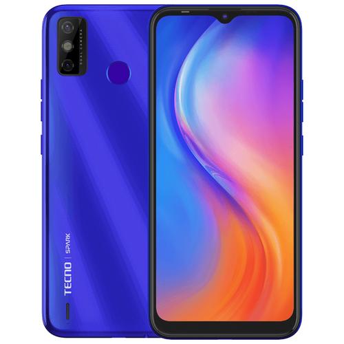 Смартфон TECNO Spark 6 Go 2/32GB 2/32 ГБ, водяной синий сотовый телефон tecno spark 6 go 2 32gb mystery white