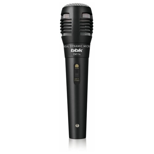 Фото - Микрофон BBK CM114, черный микрофон bbk cm215 черный шампань