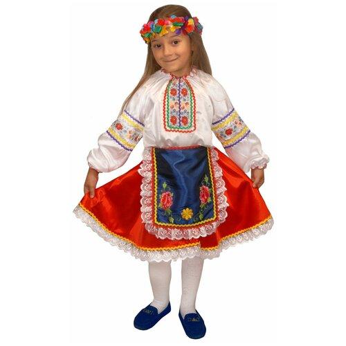 Костюм Маскарад у Алисы Украинская девочка, красный, размер 30(122)
