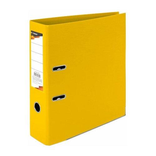InФормат Папка-регистратор А4, двухстороннее покрытие ПВХ, 75 мм желтая регистратор inформат а4 5 5 см фиолетовый