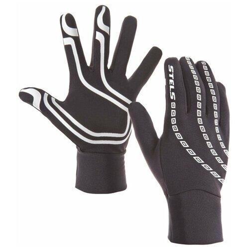 STELS, Велоперчатки WCG 43-0078 легкие зимние полноразмерные бело-чёрные p.L