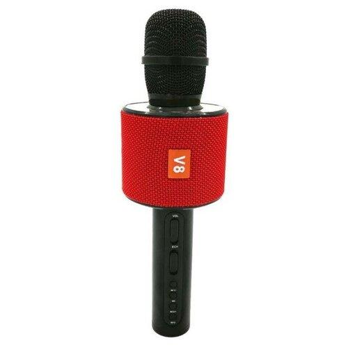 Беспроводной караоке-микрофон V8 (красный)