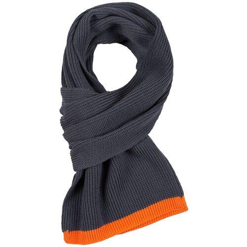 Шарф teplo Amuse, акрил серый/оранжевый