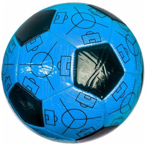 C33387-1 Мяч футбольный №5 Meik (синий) PVC 2.6, 310-320 гр., машинная сшивка
