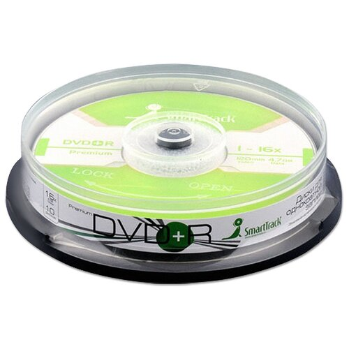 Диск SmartTrack DVD+R 47Gb 16x cake упаковка 10 штук