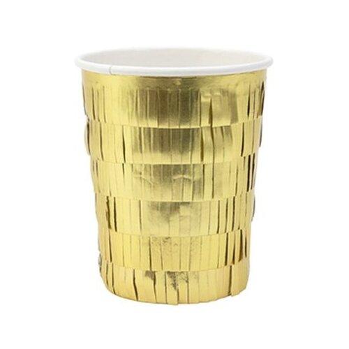 Meri Meri Стаканы праздничные, золотая кайма стаканы пастельные высокие meri meri