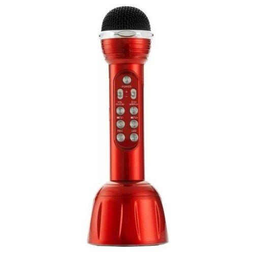 Беспроводной караоке-микрофон WS-568 (красный)