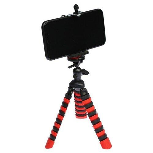 Штатив LuazON настольный для телефона гибкие ножки высота 20 см чёрно красный 4364247
