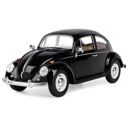 Купить Легковой автомобиль Serinity Toys Volkswagen Classical Beetle 1967 (7002DKT) 1:24, 16 см, черный, Машинки и техника