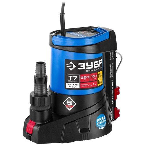 Фото - Дренажный насос для чистой воды ЗУБР НПЧ-Т7-250 (250 Вт) дренажный насос для чистой воды зубр нпч т3 550 550 вт