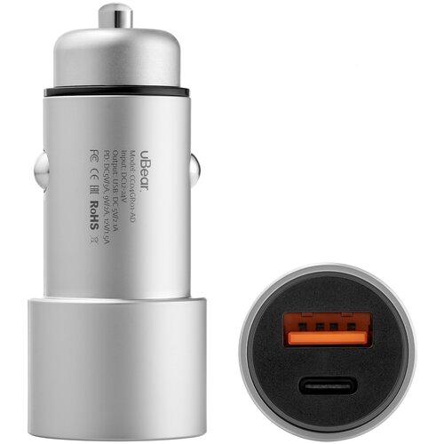 Фото - Автомобильное зарядное устройство uBear RIDE USB-A | USB-C Car Charger, CC04GR01-AD зарядное устройство nokia essential wall charger ad 5we