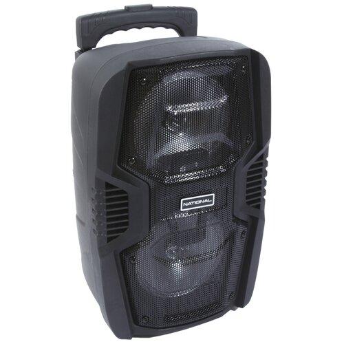 Портативная миди-аудиосистема National NSM-V250 с караоке, Bluetooth, FM-радио и светодиодной подсветкой, 400 Вт