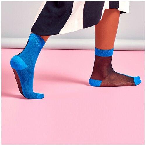 Носки для девушек Hysteria Filippa Nylon Ankle - Blue/Black 36-41