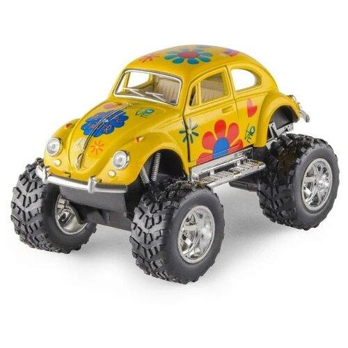 Купить Монстр-трак Serinity Toys Bigfoot Buggy Volkswagen Beetle Classical (5057DBFKT) 1:32, желтый, Машинки и техника