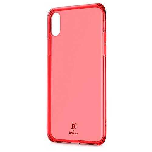 Фото - Чехол-накладка Baseus Simple Series Case Anti-Fall для Apple iPhone X transparent red чехол накладка baseus thin case для apple iphone x black