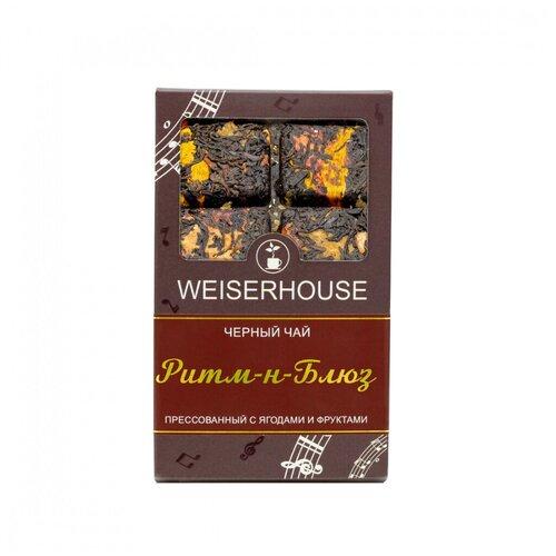 Фото - Чай Weiserhouse Ритм-н-блюз, чёрный прессованный с добавками, плитка, 75 гр чай чёрный вселенная прессованный блин 75 г