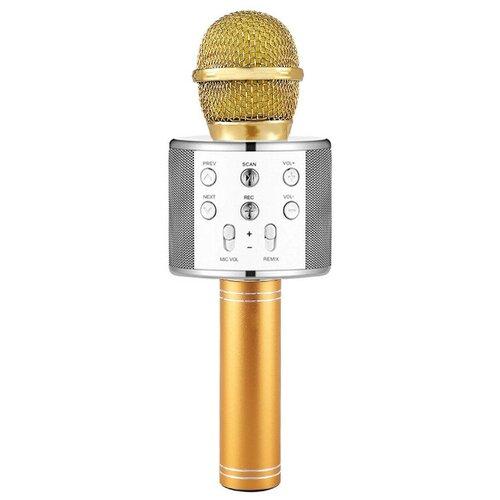 Беспроводной караоке-микрофон WS-858 (белое золото)