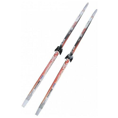 Лыжный комплект (лыжи + крепления) 75 мм 195 Sable snowway red