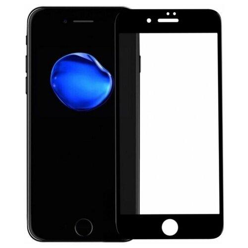 Полноэкранное защитное стекло для телефона Apple iPhone 7, iPhone 8 и iPhone SE 2020г / Ударопрочное стекло на смартфон Эпл Айфон 7, Айфон 8 и Айфон СЕ 2020г / Закаленное стекло с олеофобным покрытием на весь экран / Full Glue Premium Glass от 3D до 21D (Черный)