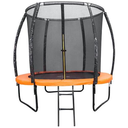 Фото - Каркасный батут DFC Trampoline Kengoo II 5FT-BAS-BO 152х152х205 см оранжевый/черный каркасный батут dfc trampoline kengoo ii 16ft bas bo оранжевый