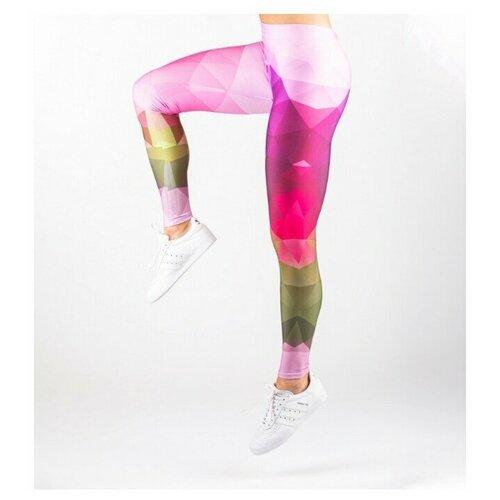 Леггинсы Mr. Gugu & Miss Go спортивные для фитнеса Фиолетовый Геометрический узор, размер S