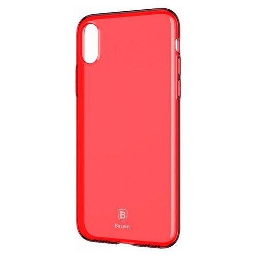 Фото - Чехол-накладка Baseus Simple Series Case для Apple iPhone X transparent red чехол накладка baseus thin case для apple iphone x black