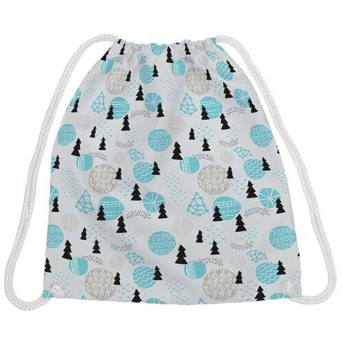 JoyArty Рюкзак-мешок Новогодние атрибуты bpa_50936V1, голубой/серый joyarty рюкзак мешок радужные окошки bpa 207087 голубой