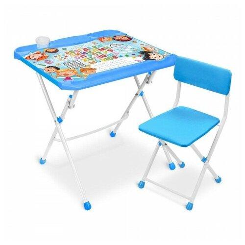 Купить Nika Комплект детской мебели «Ника» с азбукой в кругу друзей (стол-парта 600+пенал+стул), Парты и столы