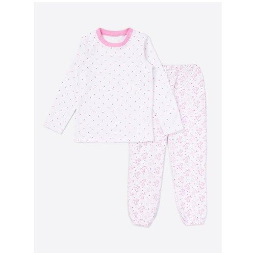 Пижама: Джемпер, брюки КотМарКот, 2691227 (размер 86, цвет Белый) пижама double trouble белый оранжевый 86 размер