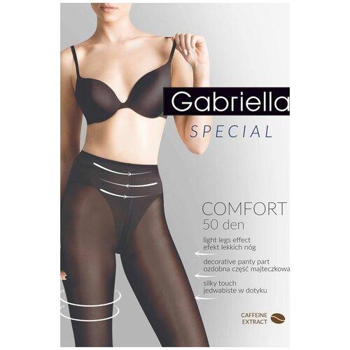 Gabriella Утягивающие в бедрах и талии колготки с кофейным экстрактом Comfort, черный, 2 размер