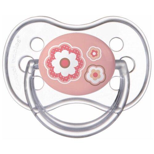 Купить Пустышка силиконовая анатомическая Canpol Babies Newborn Baby 6-18 м, розовый, Пустышки и аксессуары