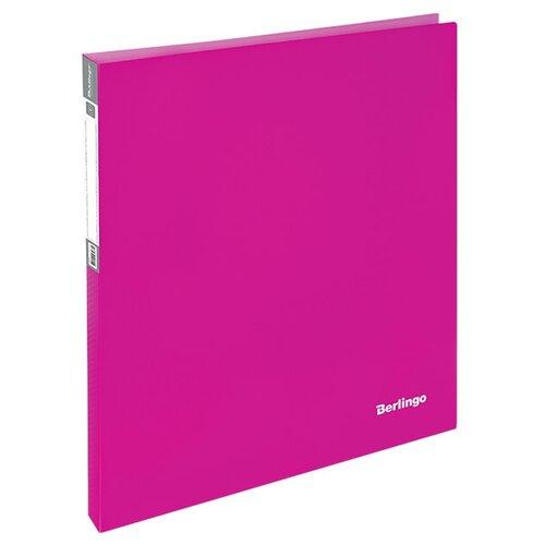 Фото - Berlingo Папка на 2-х кольцах Neon A4, 25 мм, 700 мкм, пластик неоновый розовый berlingo папка с 20 вкладышами neon a4 14 мм 700 мкм пластик зеленый