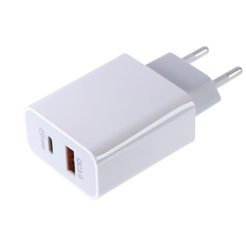 Фото - Зарядное устройство Media Gadget HPS-2QCUC USB Quick Charge 3.0 / USB Type-C Power Deliver White MGHPS2QCUCWT зарядное устройство media gadget hps 110uc usb type c power delivery white mghps110ucwt