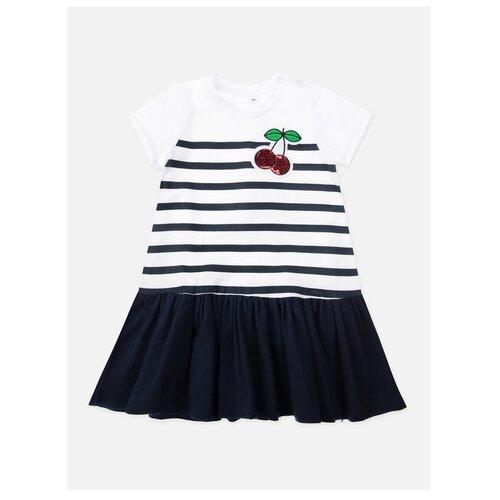 Фото - Платье playToday размер 74, белый/синий песочник playtoday размер 74 белый голубой синий