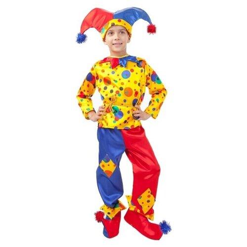 Купить Костюм пуговка Петрушка (2042 к-18), разноцветный, размер 140, Карнавальные костюмы