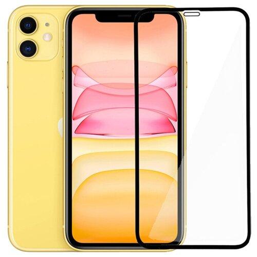 Полноэкранное защитное стекло для Apple iPhone XR (iPhone 10 R) и iPhone 11 / Закаленное стекло на Эпл Айфон 11 и Айфон Икс Р (Айфон 10 Р) / Ударопрочное стекло на весь экран с олеофобным покрытием / Full Glue Premium от 3D до 21D (черный)