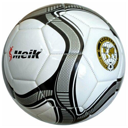 R18026-4 Мяч футбольный Meik-307 (белый), PVC 2.3, 340 гр, машинная сшивка