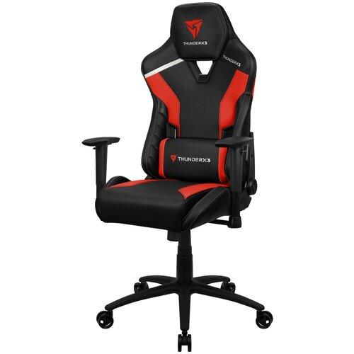 Компьютерное кресло ThunderX3 TC3 игровое, обивка: искусственная кожа, цвет: Ember Red компьютерное кресло thunderx3 tc3 ember red