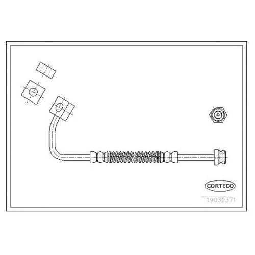 Шланг тормозной Corteco 19032371 для Kia Retona, Sportage