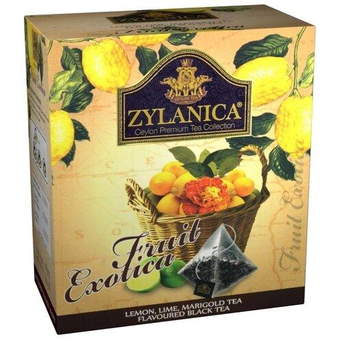 Чай черный Zylanica Fruit exotica с лимоном, лаймом и календулой в пирамидках, 20 шт.