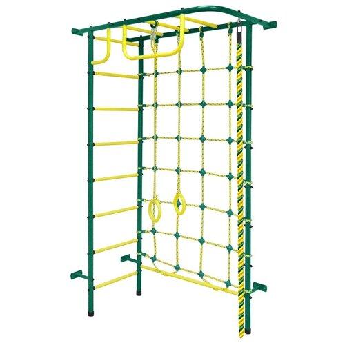 Спортивно-игровой комплекс Пионер 8М, зеленый/желтый
