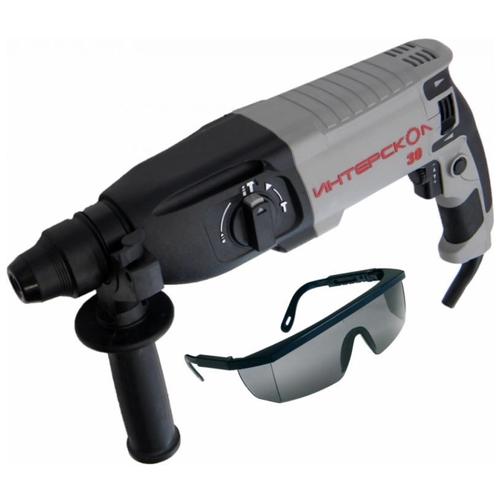 Перфоратор Интерскол П-30/900ЭР + ударопрочные защитные очки