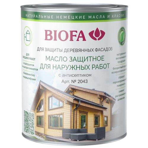 Масло Biofa защитное для наружных работ с антисептиком, 4311 Красное дерево, 1 л