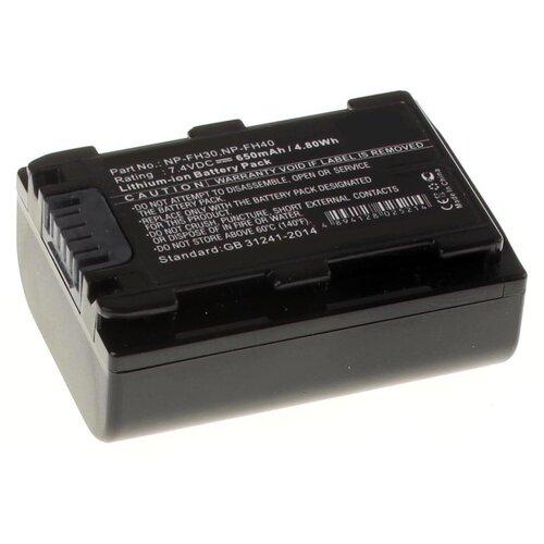 Аккумулятор iBatt iB-U1-F283 650mAh для Sony DCR-SR62, DCR-SR300, HDR-HC7, HDR-UX5, DCR-SR100, HDR-UX7, Alpha DSLR-A290, Cyber-shot DSC-HX200, DCR-SR45, HDR-SR11E, DCR-SR65, Cyber-shot DSC-HX1, HDR-SR10E, DCR-SX40,